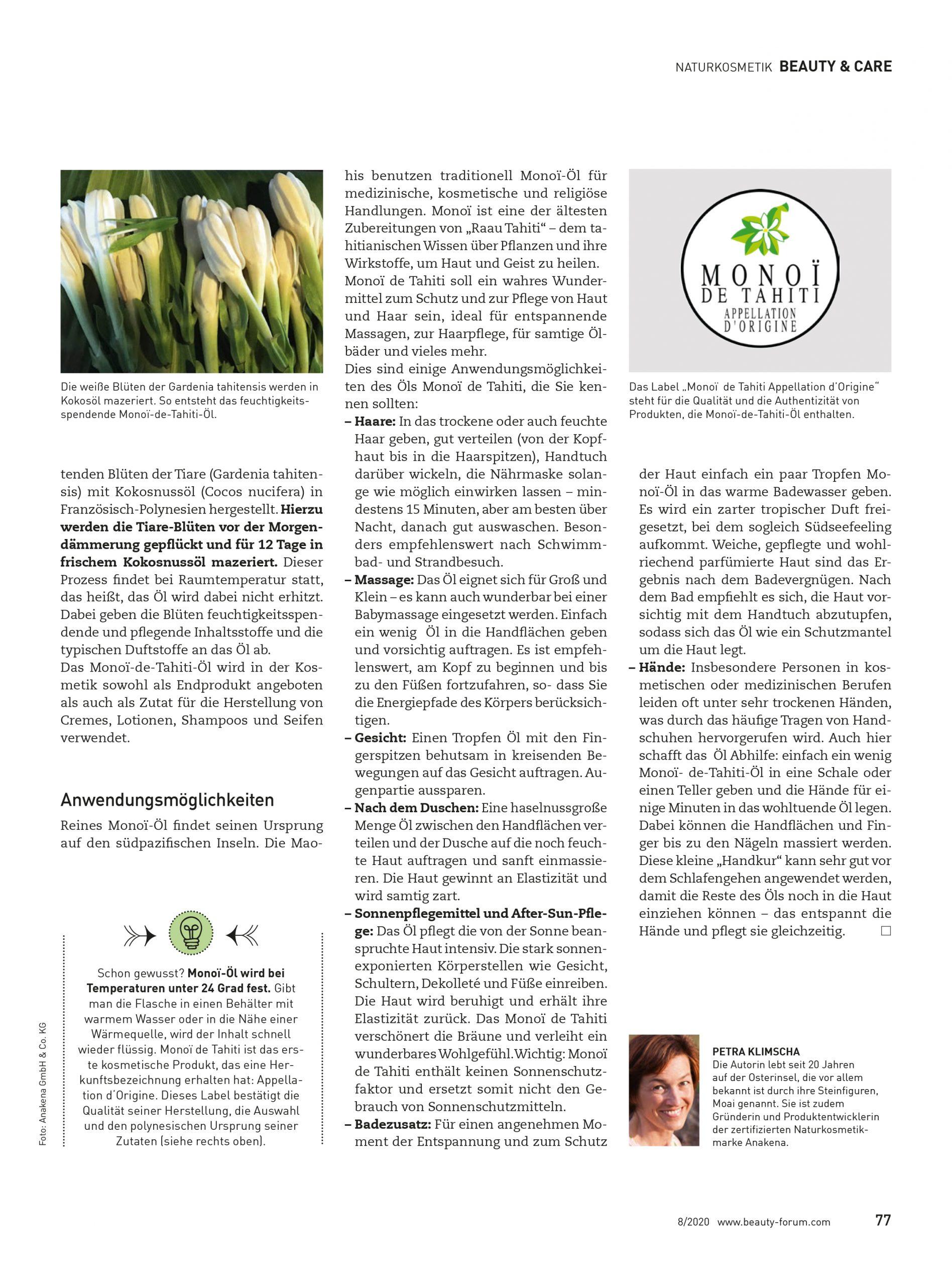 Monoi de Tahiti_Artikel Seite 2